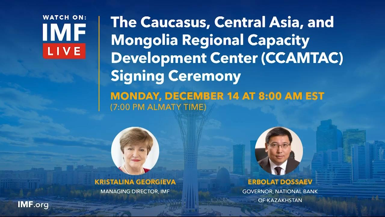 The Caucasus, Central Asia, and Mongolia Regional Capacity Development Center (CCAMTAC) Virtual Signing Ceremony