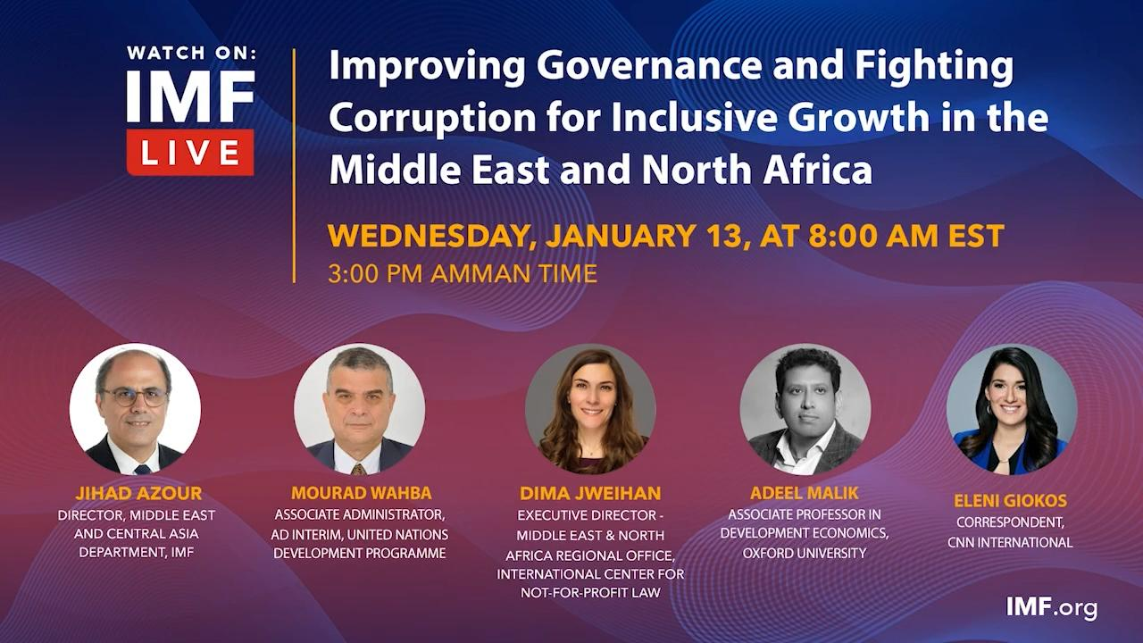Improving Governance and Fighting Corruption for Inclusive Growth in the Middle East and North Africa