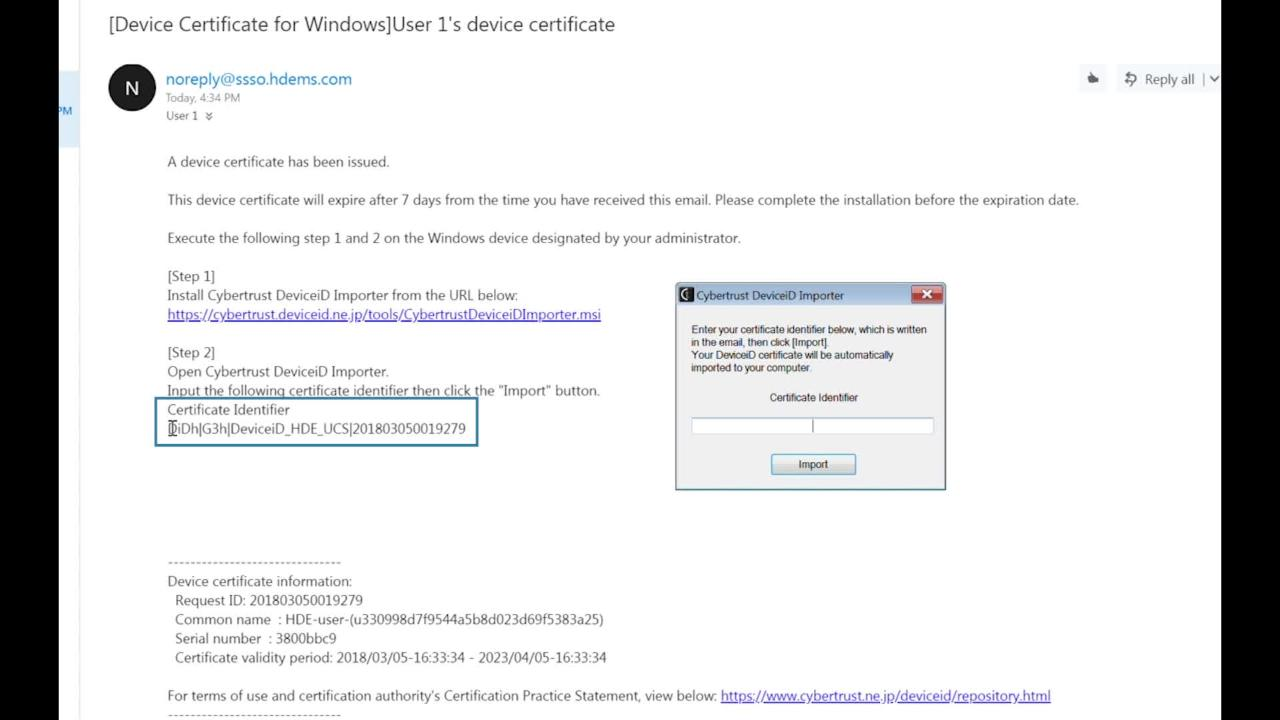 Installing Device Certificate on Windows PC – HENNGE One Help Center