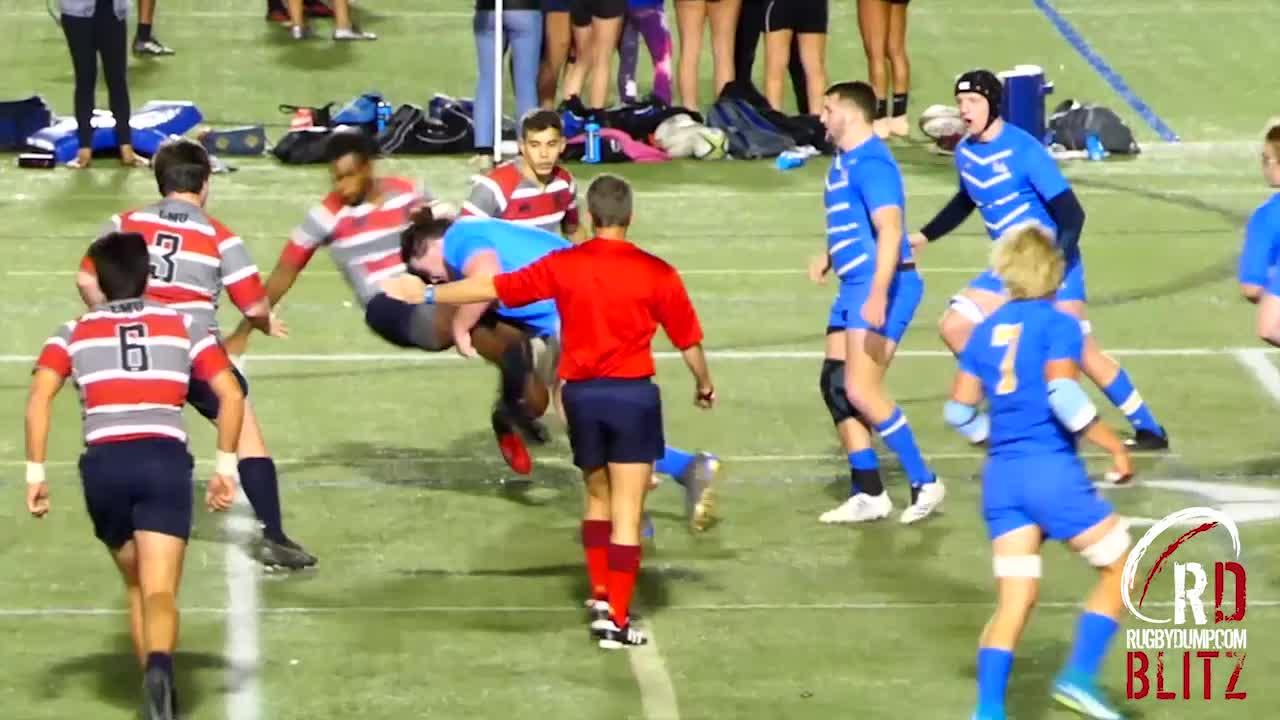 Football recruit from UCLA tries rugby, does this
