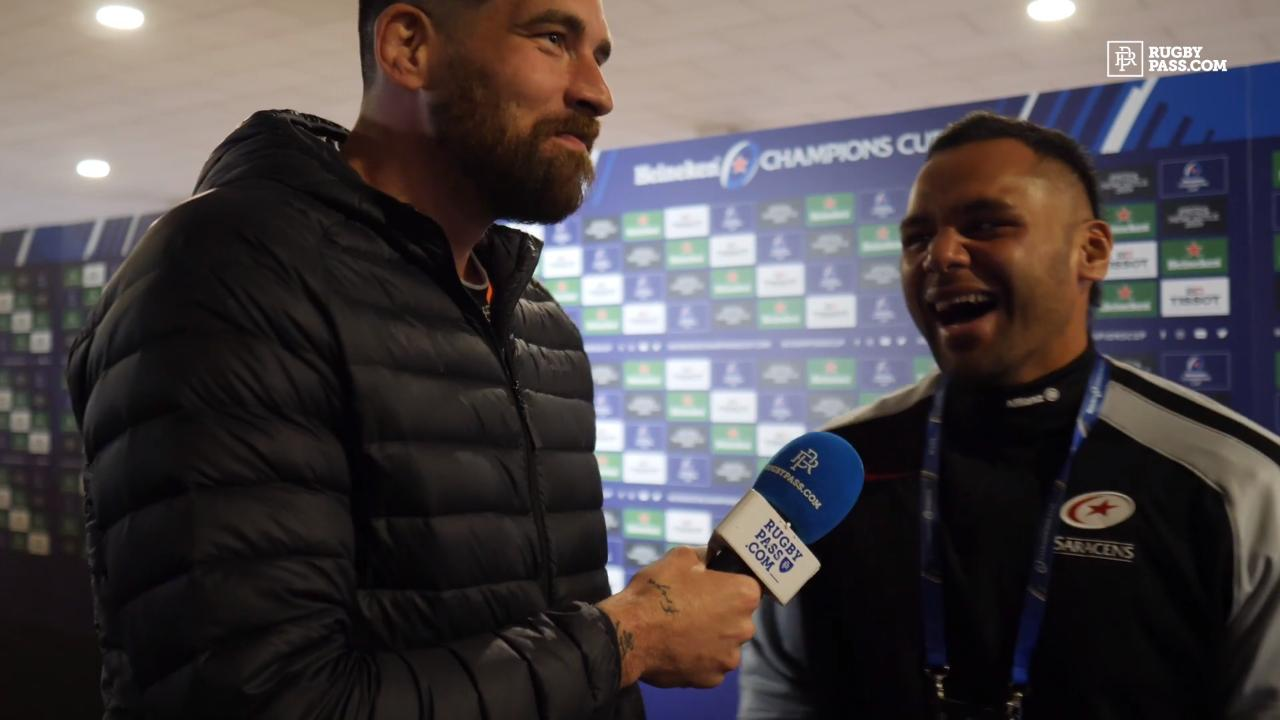 Billy Vunipola spoke to RugbyPass after victory in Newcastle