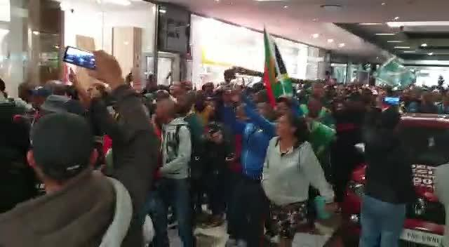 Springboks fans celebrate in Mitchell's Plain