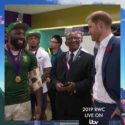 Frans Steyn challenges Prince Harry