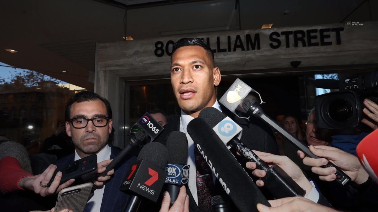 Rugby Australia reaches agreement with Folau