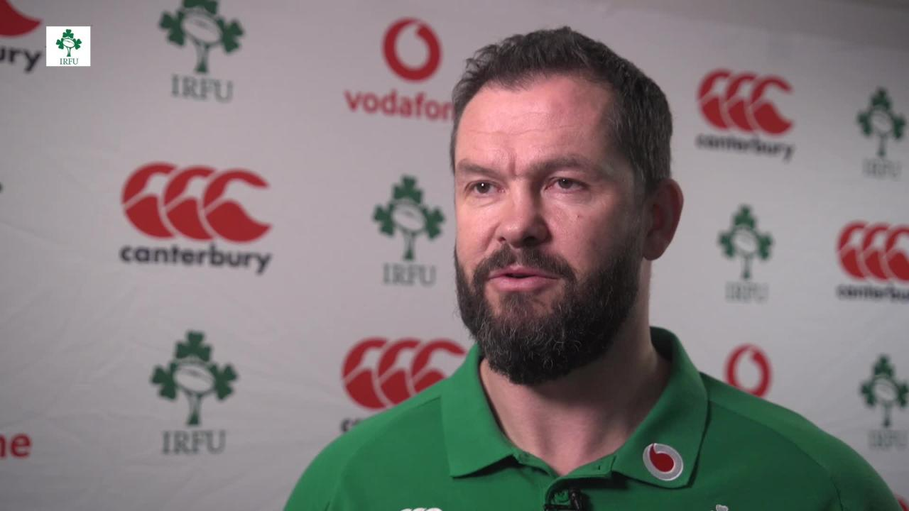 Andy Farrell on the Ireland squad