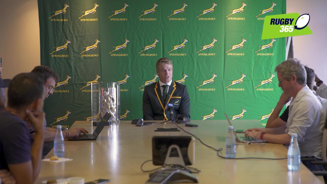 Pieter-Steph du Toit speaks about his latest award
