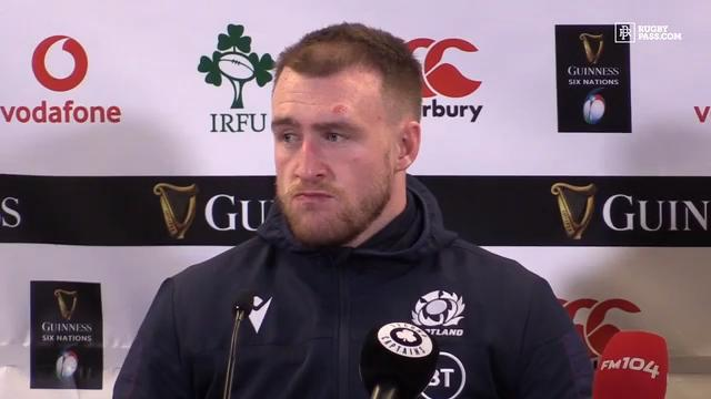 Stuart Hogg faces the media after tough day for Scotland in Six Nations