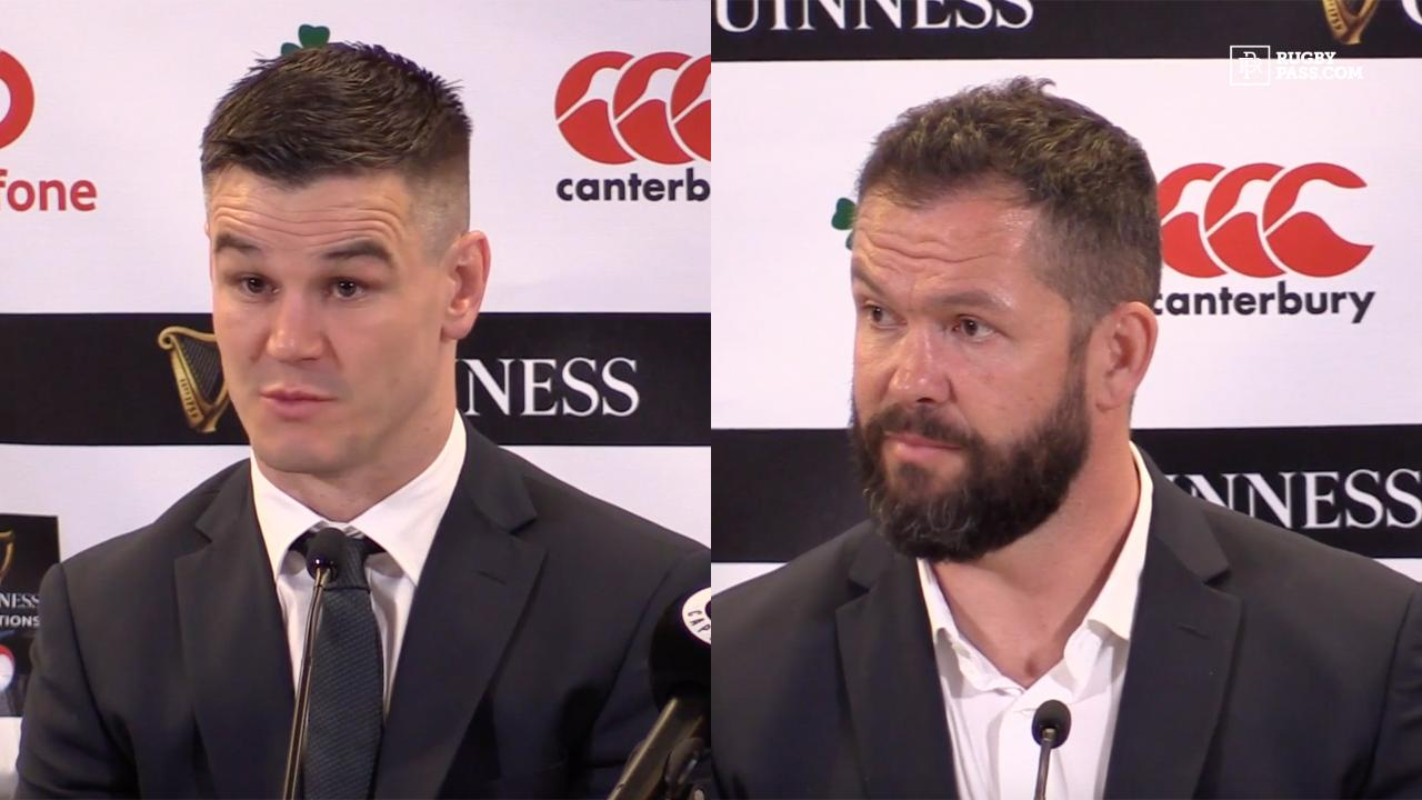 Andy Farrell and Jonathan Sexton press conference | Ireland vs Scotland