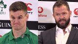 Andy Farrell and Jonathan Sexton reaction to Wales win.