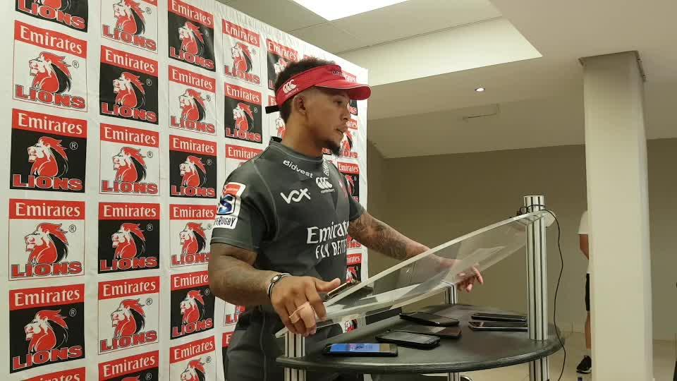 Lions captain Elton Jantjies pre-match press conference