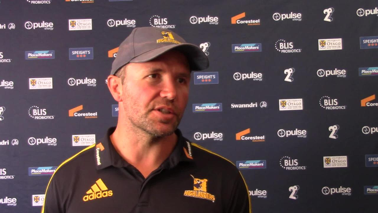 Highlanders coach Aaron Mauger preview - Rebels Round Five