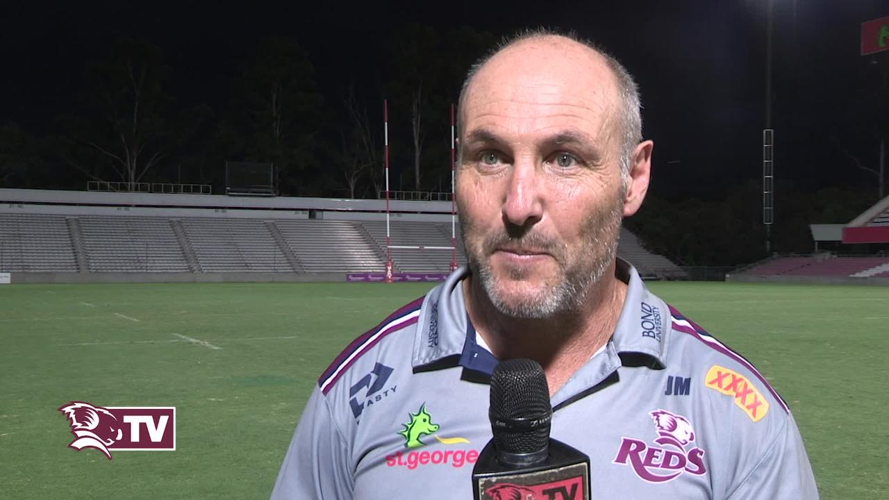 Reds assistant coach Jim McKay Interview - Sharks Round Five