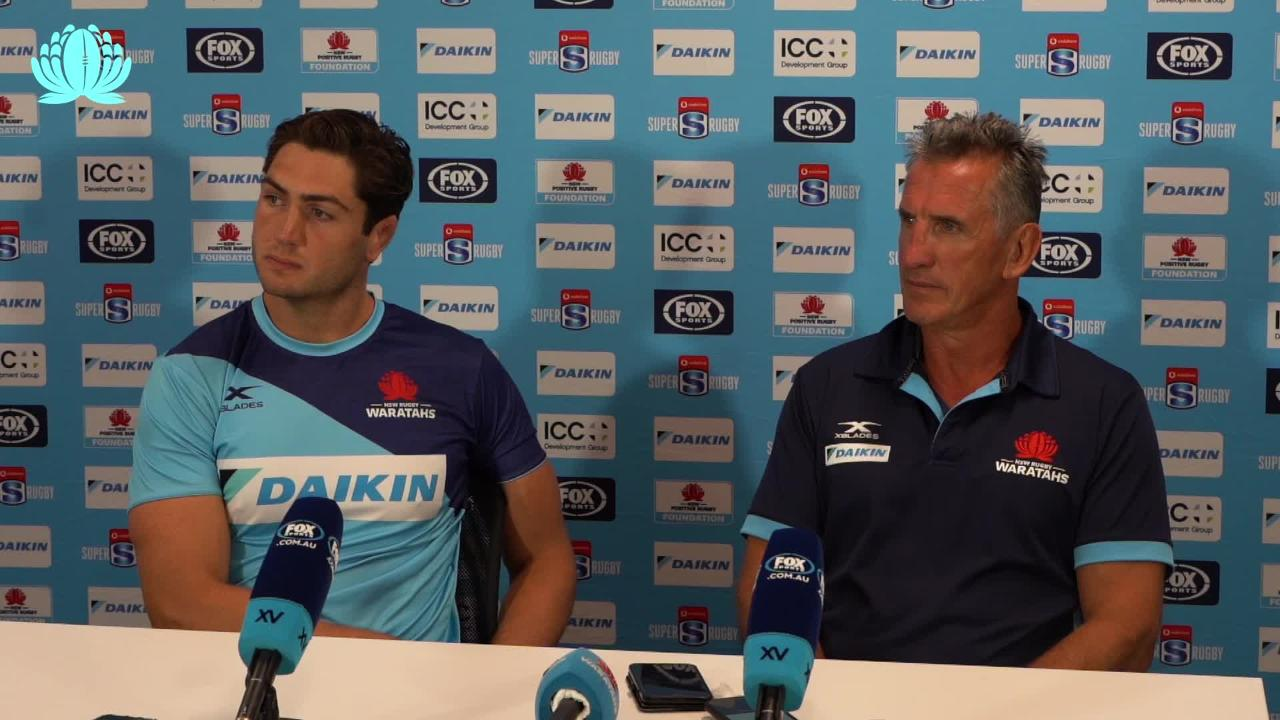 Rob Penney & Rob Simmons interview after Waratahs win over Lions