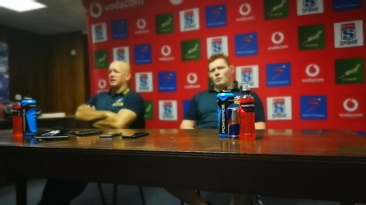 John Dobson and Steven Kitshoff after Stormers' loss to Blues
