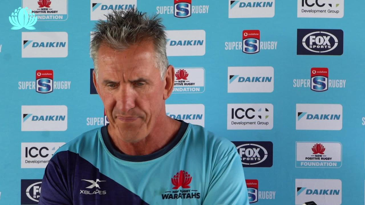 Waratahs coach Rob Penney interviewed ahead of Chiefs in Round Six