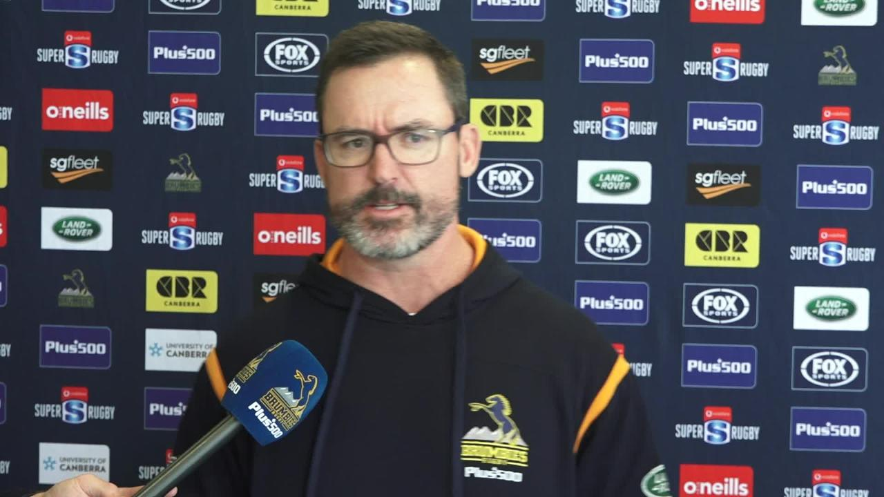 Brumbies coach Dan McKellar interviewed ahead round 6