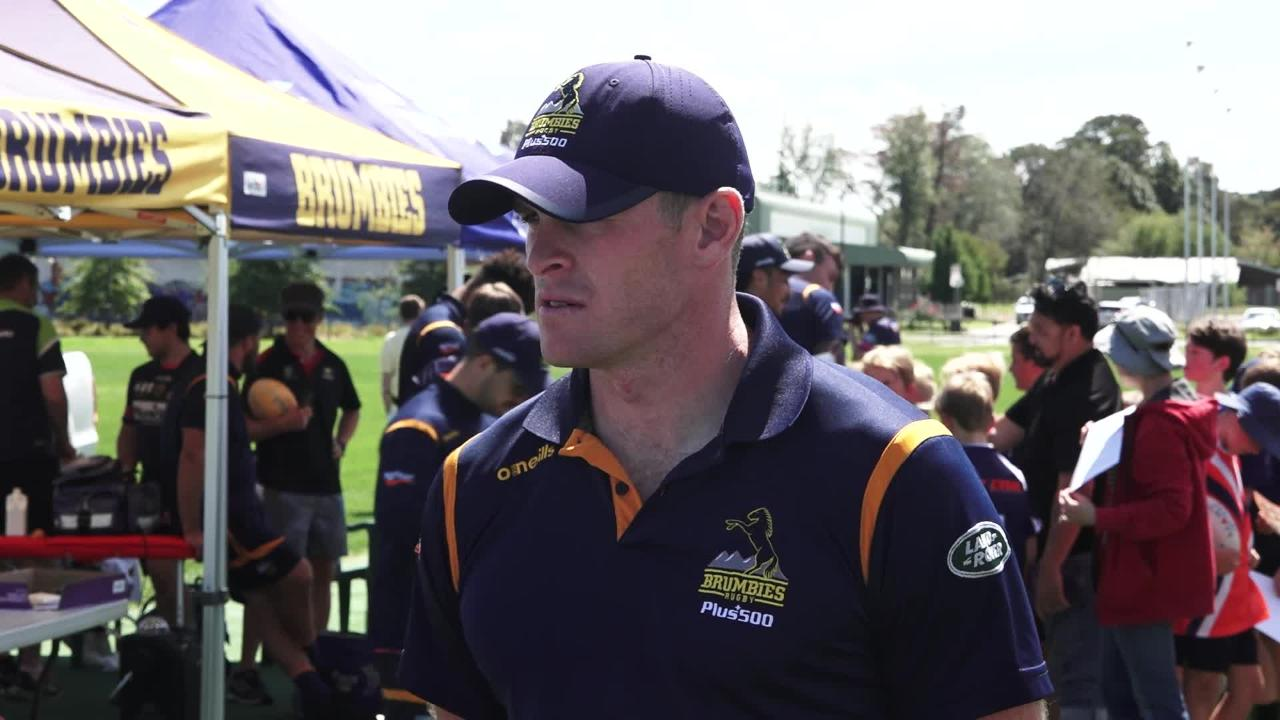 Brumbies forwards Tom Cusack and Connal McInerney interviewed