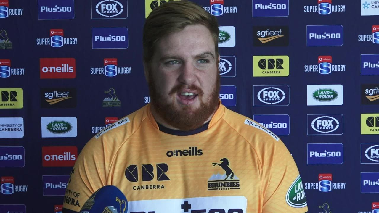 Brumbies lock Cadeyrn Neville and prop Tom Ross