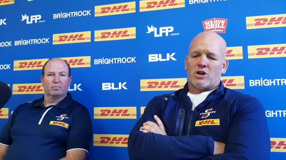 Stormers coach John Dobson and team doctor Jason Suter injury update