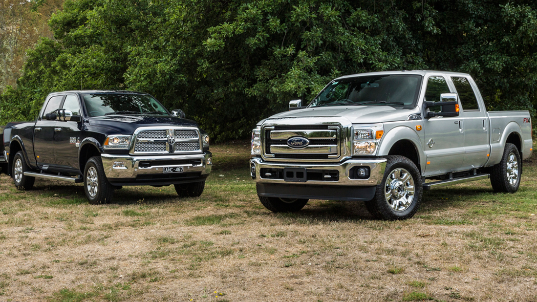 RAM 2500 v Ford F-250 2016 Comparison - motoring.com.au