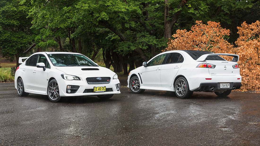 Mitsubishi Lancer Evo V Subaru Wrx Sti 2016 Video Review