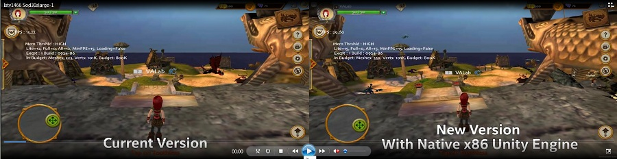 Native x86 Support on Unity* Gaming Boosts Performance for