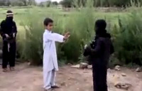 Afghan Kids 'Play' Suicide Bomber