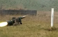 Royal Marines Live Fire Javelin Missile