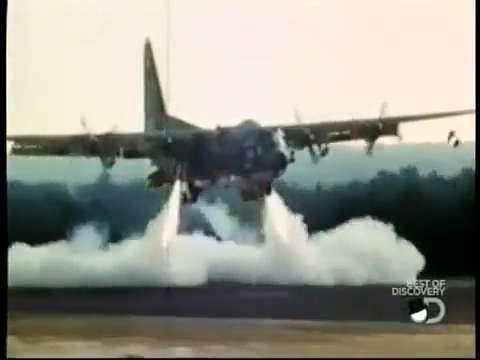 Top Secret C-130 with Rocket Boosters